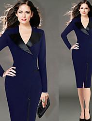 Недорогие -Жен. Изысканный и современный Платье - Сплошной цвет, Современный