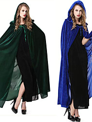 Santa Suits Vampire Movie/TV Theme Costumes Cloak Masquerade Unisex Halloween Christmas Carnival Festival/Holiday Halloween Costumes Blue