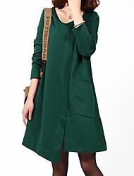 povoljno -Žene Chic & Moderna Širok kroj Haljina - Moderna, Jednobojni Asimetričan