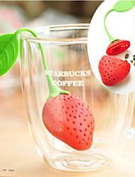 Недорогие -кухонный инвентарь ситечко для чая нетоксичный клубничная форма силиконовый чай для заварки чайный пакетик чайник аксессуар