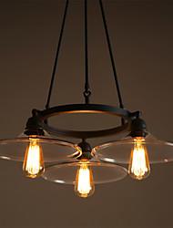 Недорогие -3-Light Люстры и лампы Потолочный светильник - Конструкторы, 110-120Вольт / 220-240Вольт Лампочки не включены / 10-15㎡ / FCC / E26 / E27