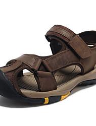 economico -Sandali da uomo primavera estate caduta comodo pelle nappa ufficio esterno&Carriera abito casual scarpe marrone scuro