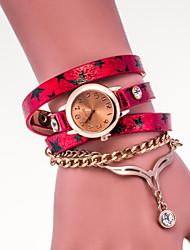 preiswerte -Damen Modeuhr Quartz PU Band Schwarz / Weiß / Blau / Silber / Rot / Rosa / Lila Marke-