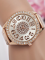 Недорогие -Муж. Жен. Кварцевый Повседневные часы сплав Группа Elegant Мода Серебристый металл Золотистый Розовое золото