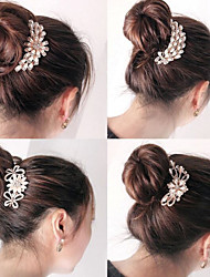 abordables -adornos de alto grado coreano al sur de diamante perla broche de pelo peines recorrer un estilo al azar