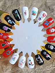1 Neglekunst Klistermærke 3D Negle Stickere Tegneserie Smuk Makeup Kosmetik Neglekunst Design