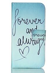 cheap -EFORCASE Always Love Painted PU Phone Case for Galaxy S6 edge S6 S5 S4 S3 S5 mini S4 mini S3 mini