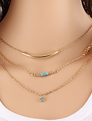 cheap -Women's Evil Eye Fashion Choker Necklace Vintage Necklaces Turquoise Alloy Choker Necklace Vintage Necklaces , Party Daily Casual