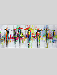 cheap -Hand-Painted Pop Art Horizontal Panoramic, Modern Canvas Oil Painting Home Decoration One Panel