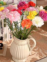Ramo Seda Plástico Cravo Flor de Mesa Flores artificiais