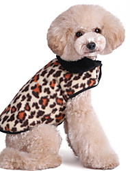 Cat Dog Vest Multicolor Dog Clothes Winter Spring/Fall Leopard Fashion Keep Warm