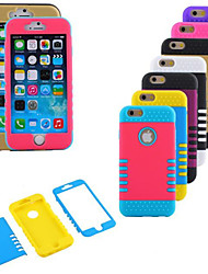 abordables -Funda Para iPhone 6s Plus iPhone 6 Plus Apple iPhone 6 Plus Funda Trasera Suave Silicona para iPhone 6s Plus iPhone 6 Plus