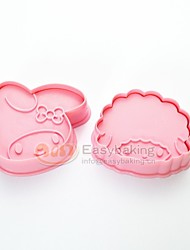 cheap -Cute Cartoon Animal 3D Biscuit Mold Little Red Riding Hood Cookie Cutters and Stamps MC-66