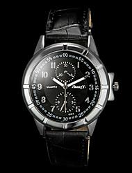 abordables -Hombre Reloj de Pulsera Cuarzo Gran venta PU Banda Encanto Negro