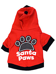 cheap -Cat Dog Hoodie Dog Clothes Letter & Number Black Red Cotton Costume For Pets Men's Women's Fashion