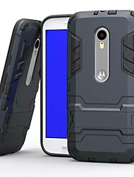 cheap -Plastic and TPU 2 in 1 Case Cover with Stand Armor Back Case Shockp for Motorola Moto G3