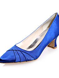 abordables -Femme Chaussures Satin Printemps Eté Talon Bottier pour Mariage Soirée & Evénement Violet Bleu Rose Champagne Ivoire