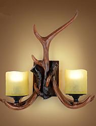 abordables -Style mini / Ampoule incluse Chandeliers muraux,Traditionnel/Classique E26/E27 Résine