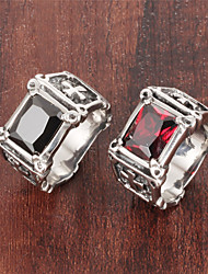 ailaicity®Zirconium AAA Diamond Gem Personality Man Cross Stainless Steel RingImitation Diamond Birthstone