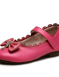 cheap -Girls' Shoes Wedding / Outdoor / Party & Casual Comfort / Round Toe / Closed Toe Leatherette Flats Red / White