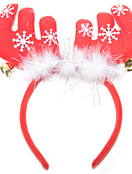 cheap -Christmas Party Supplies Reindeer Antlers Headband Toys Jingle Bell 1 Pieces