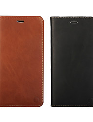 Oil Edge Holster Models First Layer of Leather Wallet for iPhone 7 7 Plus 6s 6 Plus