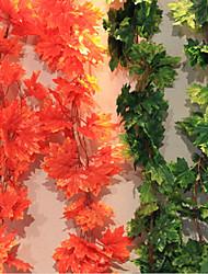 Недорогие -кленовые листья тростниковые полиэфирные растения искусственные цветы для домашнего украшения