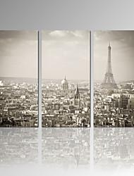 Lazer / Fotografia / Moderno / Romântico / Pop Art Impressão em tela 3 Painéis Pronto para pendurar , Vertical