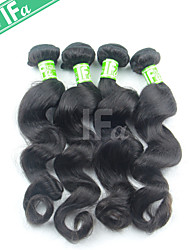 Недорогие -Индийские волосы Классика Свободные волны Ткет человеческих волос 4 предмета Высокое качество 44.0 Повседневные