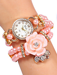 YILISHA ® Girls' Beads Bangle Bracelet Band Watches Round Dial Quartz Dress Watches Flower Rhinestone Jewelry Watch Cool Watches Unique Watches
