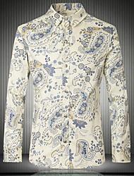 Print Muška Majica Ležerne prilike / Plus veličine,Pamuk Dugih rukava Više boja