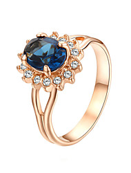 preiswerte -Ring - 1 Kreisform Stilvoll / Klassisch Gold Ring Für Hochzeit / Party / Party / Abend