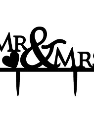 cheap -Cake Topper Garden Theme Classic Theme Monogram Acrylic Wedding Anniversary Bridal Shower With OPP
