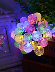 La chaîne solaire de forme de bulle de 6.5m 30led s'allume les lumières de décoration de lumières de mariage fines