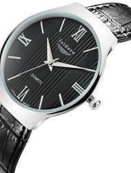 Men's Korean Style Casual Genuine Leather Quartz Watches Wrist Watch Cool Watch Unique Watch
