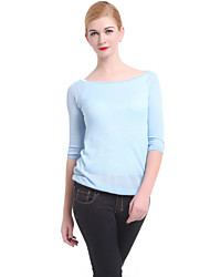 cheap -Women's Casual/Work Long Sleeve Pullover , Knitwear Medium