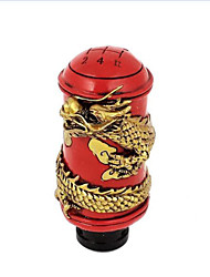 1.5cm Dia Caliber Dragon Pattern Car Gear Shift Knob Stick Shifter