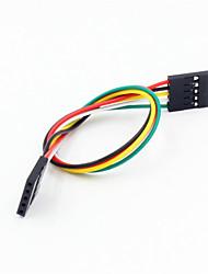 Недорогие -DuPont 5-контактный 2.54мм женщин и женщин расширение проводной кабель для arduino- (20см)