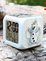 Недорогие -высокое качество творческой красочных небольшой будильник привело электронные подарки / мультфильм будильник