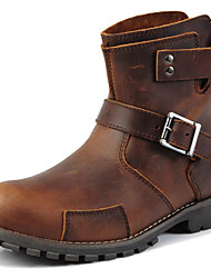 cheap -Men's Shoes Outdoor / Party & Evening / Casual Leather Boots Brown