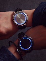 cheap -Large Dial LED Touch Screen Couple Watches Men Luxury Watch Women Dress Quartz Clocks Vintage Strap Watch Cool Watches Unique Watches