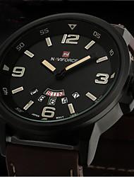 Недорогие -Мужской Армейские часы Наручные часы Кварцевый Японский кварц Кожа Группа