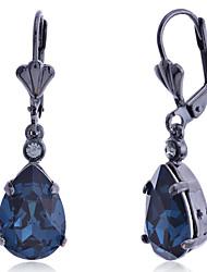 cheap -Women's Drop Crystal Imitation Diamond Drop Earrings - Luxury Fashion European Black Earrings For Party Daily Casual