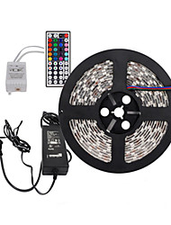 economico -Z®zdm 5m 300x5050 smd rgb led luce a strisce e telecomando 44key e 6a us u uk au alimentazione (ac110-240v)