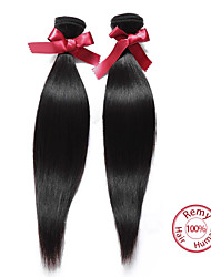 cheap -EVET Hair Products Malaysian Virgin Hair Straight 2Pcs Malaysian Straight Virgin Hair Remy Human Hair Weave Bundles