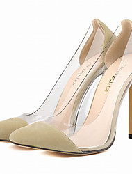 cheap -Women's Shoes Fabric / Leatherette Stiletto Heel Heels / Pointed Toe Heels Party & Evening / Dress