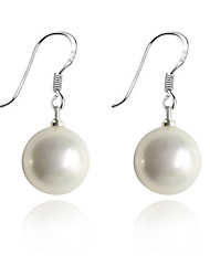 cheap -Drop Earrings Pearl Silver Plated Shell Fashion White Jewelry Party Daily Casual 2pcs