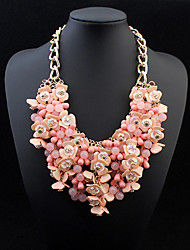 cheap -Women's Statement Necklace - Drop Statement, European Pink, Light Blue, Rainbow Necklace Jewelry For