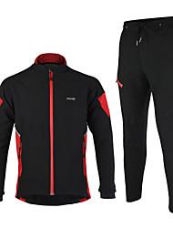 preiswerte -Arsuxeo Fahrradhose mit Jacke Herrn Langarm Fahhrad Jacke Kleidungs-Sets warm halten Windundurchlässig Anatomisches Design Wasserdichter