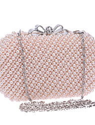 Women Bags All Seasons Polyester Evening Bag for Wedding Event/Party Casual Formal Office & Career White Beige Blushing Pink